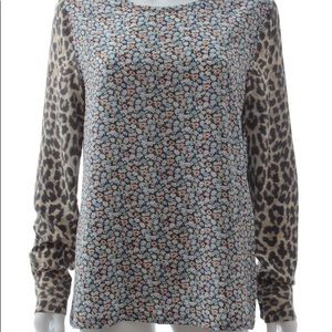 Equipment Floral - Lepard Silk Blouse with